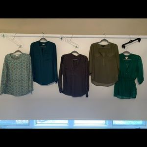 Blouse Bundle 5 for $50